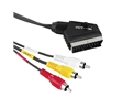 CABO AUDIO/VIDEO SCART MACHO - 3 X RCA MACHO, IN - OUT, 1,5 METROS