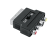 ADAPTADOR SCART MACHO IN OUT - 3 X RCA FEMEA + S-VIDEO FEMEA