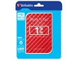"VERBATIM HDD 2.5"" 1TB USB 3.0 RED PORTABLE"