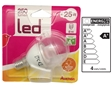 Lampadas Led Transpa. Auchan Mini Esfer. E14 25w