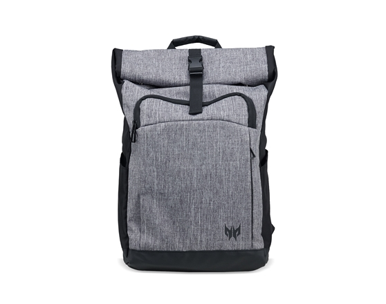 "PREDATOR ROLLTOP Jr. BACKPACK FOR 15.6"" PREDATOR NBs GRAY DUAL-TONE"
