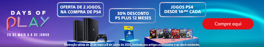 Sony PlaySation - Promoções Days of Play.