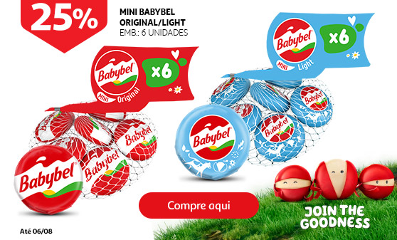 Mini Babybel - Experimente o original ou light.